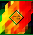 geometric background of red yellow vector image