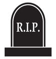 graveyard RIP Icon vector image vector image