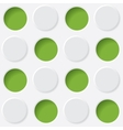 green and white circles vector image