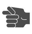 hand fig sign solid icon hand gesture vector image vector image