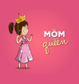 happy mother holding a crown vector image