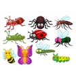 Insect cartoon collection set vector image vector image