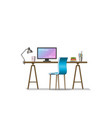 interior equipment of a modern work station vector image