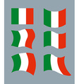 Italy Flag Developing Italian flag Set various vector image vector image