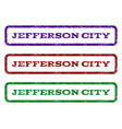 jefferson city watermark stamp vector image vector image