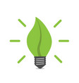 leaf shaped light bulb vector image