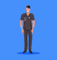 male doctor with stethoscope man medical clinic vector image vector image