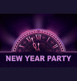 new year party background in purple tones vector image vector image