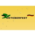 Octoberfest symbols on yellow background vector image