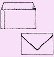 open closed envelope vector image vector image