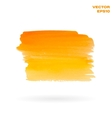 Orange and yellow watercolor hand painted shape vector image vector image