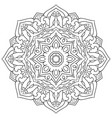 ornamental oriental mandala vector image vector image