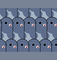 pigeon cartoon background dove pattern seamless vector image vector image