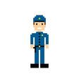 pixel people theme avatar guy vector image