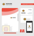 processor business logo file cover visiting card vector image