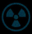 radioactive composition icon of halftone spheres vector image vector image