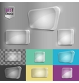 Rectangle and square set of glass shape icons with vector image vector image