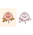 rose flower for logo or tattoo vector image vector image