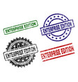 scratched textured enterprise edition seal stamps vector image vector image