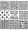 set 8 primitive geometric patterns tribal vector image