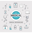 set flat medical icons concept vector image vector image
