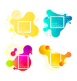 set of colorful elements gradient abstract vector image vector image