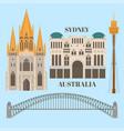 sightseeing and landmark architecture australia vector image vector image