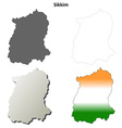 Sikkim blank detailed outline map set vector image vector image