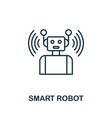 smart robot outline icon creative design from vector image