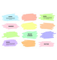 splash banners set colorful brush strokes vector image vector image