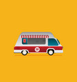 street food truck food caravan burger van vector image vector image