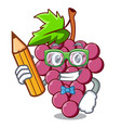 student red grapes fruit isolated in character vector image