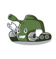 successful tank character cartoon style vector image