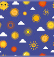 sun yellow planets different style weather vector image