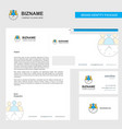 team on time business letterhead envelope and vector image vector image