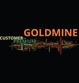 the new goldmine premium text background word vector image vector image