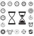 time or clock icon isolated vector image vector image