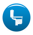 toilet equipment icon blue vector image vector image