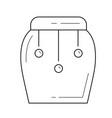 tom tom line icon vector image vector image