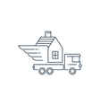 Truck transportation and delivery icon logo vector image vector image