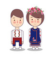 ukrainian wedding couple cute ukraine eastern vector image vector image