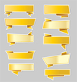 Variety of gold ribbons banners vector image vector image