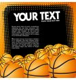 vector basketball banner vector image vector image