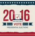 Vote Presidential Election card Presidential vector image vector image