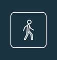 walking outline symbol premium quality isolated vector image