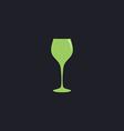 wine glass computer symbol vector image