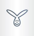 funny rabbit line icon design vector image