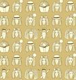Sketch girls face pattern vector image