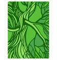 Stylized abstract green tree vector image