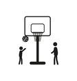 Summer sports icon - basketball vector image